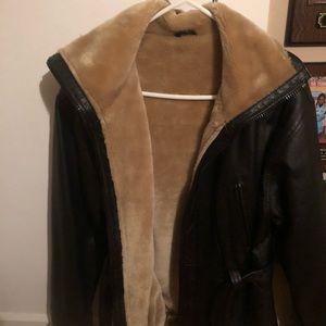 Women's leather Bomber size Medium